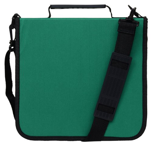 CD Case for Car, 288 Capacity, Hard Case and Lightweight, Green