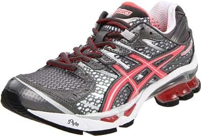 ASICS Women's Gel-Kinetic 4 Running Shoe,Titanium/Electric Papaya/Lightning,9.5 M US