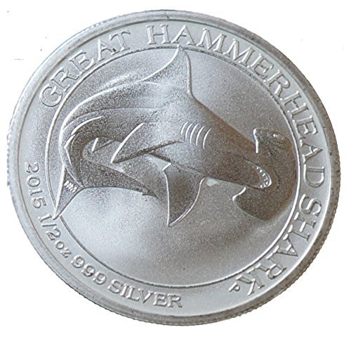 - 2015 Australia 1/2 oz Silver Great Hammerhead Shark Uncirculated