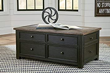 Signature Design by Ashley T736-20 Tyler Creek Coffee Table with Lift Top Grayish Brown Black