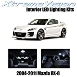 XtremeVision Mazda RX-8 RX8 2004-2014 (5 Pieces) Pure White Premium Interior LED Kit Package + Installation Tool