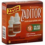 NOVARTIS PHARMACEUTICAL Zaditor Eye Itch Relief, 5ml(0.17OZ each), 2 Count