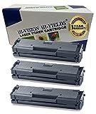HI-VISION 3 Pack Compatible Samsung MLT-D111S, MLTD111S Black Toner Cartridge Replacement for Samsung SL-M2020W, SL-M2022, SL-M2022W, M2070, SL-M2070FW, SL-M2070W Printers