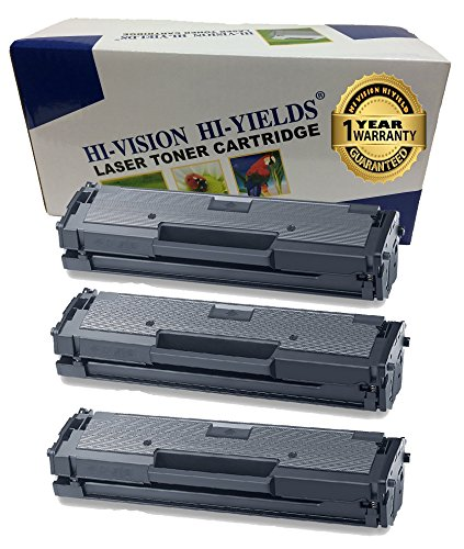 HI-VISION HI-YIELDS Compatible Toner Cartridge Replacement for Samsung MLT-D111S ( Black , 3 pk )