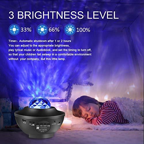 Proyector Estrellas Galaxia Proyector Lampara De Mesa Infantil Oceano Con 21 Modos Control Remoto Temporizador Altavoz Bluetooth Luz Bebe Nocturna Luces Decorativas Habitacion Para Fiesta