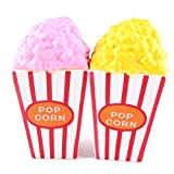 mighty pop popcorn oil - E-SCENERY Jumbo Popcorn Squishy Toys, Squishies Stress Toys Squishy Kawaii Squishy Stress Reliever Anxiety Toys Slow Rising Cream Scented Toy For Children Adults