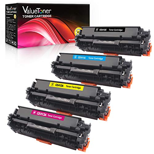 Printers Color Series Laserjet 2600 (Valuetoner Compatible Toner Cartridge Replacement for HP 305A 305X CE410A CE410X CE411A CE412A CE413A for Laserjet Pro 400 M451dn M451nw M475dn M475dw M451dw M375nw (Black, Cyan, Magenta, Yellow))
