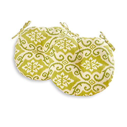 Greendale Home Fashions 18 in. Round Outdoor Bistro Chair Cushion set of 2 , Shoreham