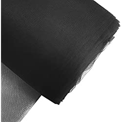 "Craft and Party, 54"" by 40 yards (120 ft) fabric tulle bolt for wedding and decoration (Black)"