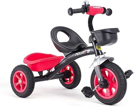 QHWJ Bicicleta de Tres Ruedas para niños, Triciclo al Aire Libre ...