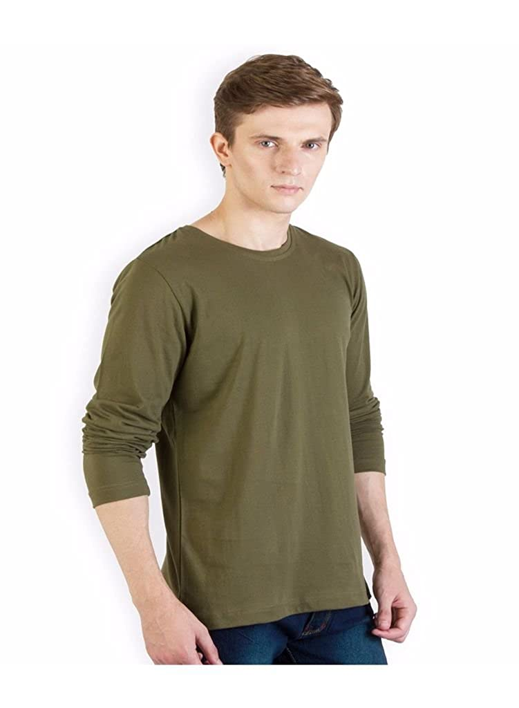 5f972aa5bfc0 Rigo Solid Army Green Slim fit T Shirt: Amazon.in: Clothing & Accessories