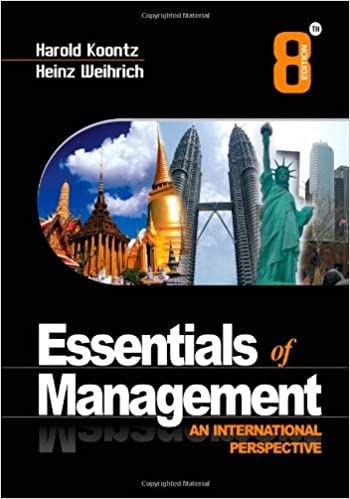 Essentials of Management, 8e: An International Perspective: Harold