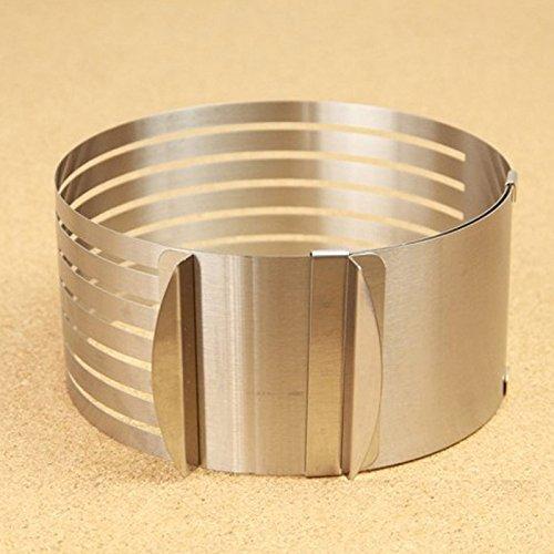 Mousse Cake Ring 15-20cm Stainless Steel Adjustable Retractable Circular Layered Slicer Baking Tool Kit Set Mould Slicing