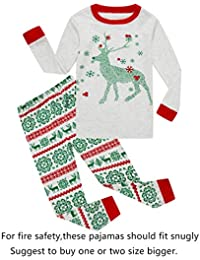 Little Boys Girls' Red Stripe Christmas Pjs Cotton Pajama...