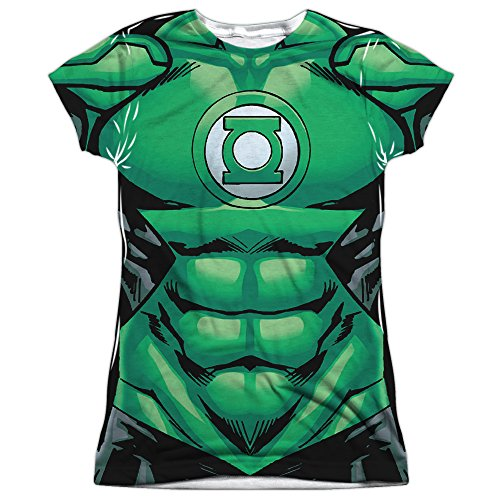 [Juniors: Green Lantern- Costume Tee (Front/Back) Juniors (Slim) T-Shirt Size XL] (Kyle Rayner Costumes)