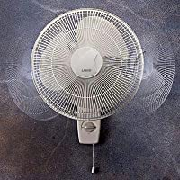 Lasko Products 16 Inch Oscillating Wall-mount Fan 3 Whisper-quiet Speeds 3-prong Grounded Plug