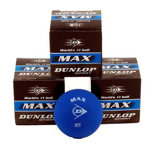Dunlop MAX Beginner Squash Ball - 3 Balls