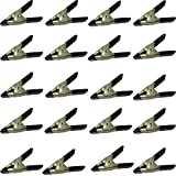 20pcs 2'' Inch long Metal Spring Clips Clamps -Lot of 20-wholesale Bulk- PVC Dipped (2inch, Black)