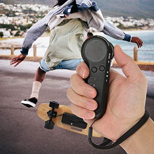Alomejor 2.4Ghz Radio Transmetteur Télécommande pour Skateboard Électrique Longboard 4 Roues Skate Board Scooter