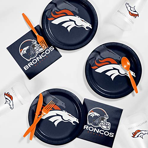 Creative Converting Denver Broncos Tailgating Kit, Serves 8