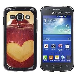 Paccase / SLIM PC / Aliminium Casa Carcasa Funda Case Cover - Fruit Macro Apple Heart Lowe - Samsung Galaxy Ace 3 GT-S7270 GT-S7275 GT-S7272