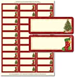 "Christmas Tree and Stocking Address Labels -1"" x 2 5/8"" - Pack of 150 Labels"