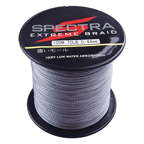 Spectra 100 pe braided fishing line gray 100m 2000m 6 for Fishing line test