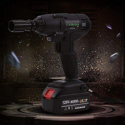 Dépêchez-Vous UNJ Clé à chocs sans fil 520 Nm 128 VF avec lampe de travail LED et batterie Li-Ion + 22cm têtes de manchon  acI1k