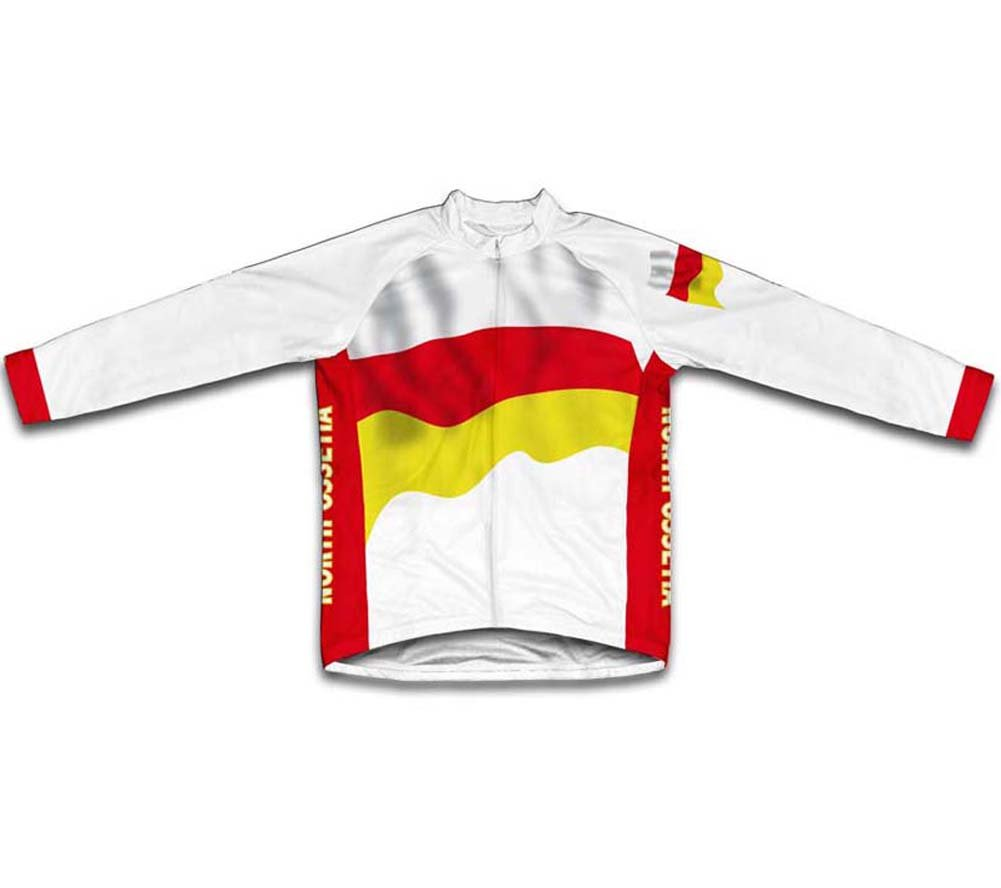 ScudoPro North Ossetia Alania Bandera Maillot de Ciclismo Marga Larga para Hombre