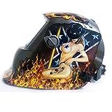 Warrior Free Shipping Solar Auto Darkening Welding Helmet Mig Tig Mag Grinding Welder Tool Sexy Lady Mask