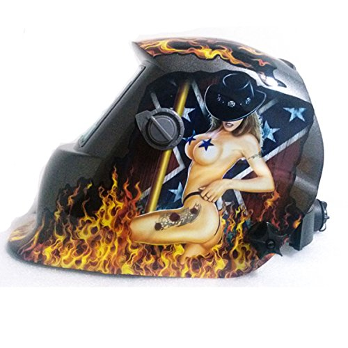 Warrior Solar Auto Darkening Welding Helmet Mig Tig Mag Grinding Welder Tool Sexy Lady Mask