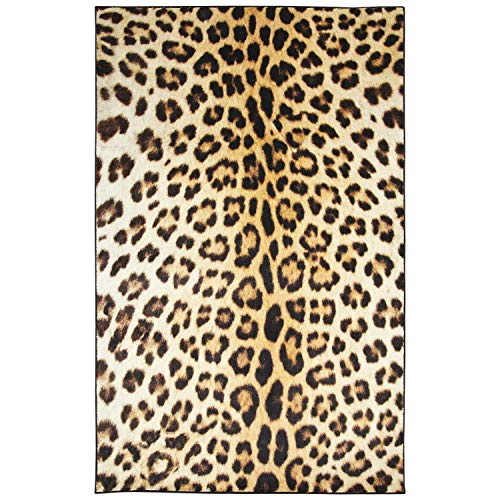 Mohawk Z0341 A440 096120 EC Prismatic Cheetah Spots Printed Contemporary Kids Area Rug 8'x10',