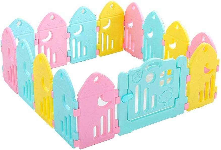 赤ちゃんとアクティビティパネル&ドアと幼児のためのシュールなベビーサークル - ベアカラフルなプラスチック製パネルは、屋内または屋外で、スタンドアロンおよびポータブルを使用することができます。簡単に安全な携帯ゲーム演習を作成し、 (Size : B)
