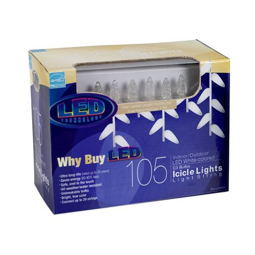 Home Accents Holiday Led Cool White Icicle Lights in Florida - 8