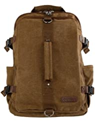 Odyseaco Montera Vintage Canvas Backpack - Heavy Duty Casual Daypack Rucksack Best For Travel