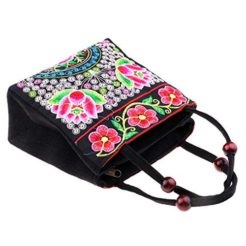 Handbag Homyl Style Embroidery Ethnic E Travel C Bag Vintage as Shoulder Canvas Bags Boho described zzBTAw