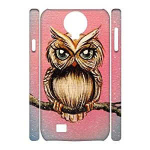 Wlicke Owl Personalized Durable samsung galaxy s4 i9500 3D Case, Brand New Protective Cover Case for samsung galaxy s4 i9500 with Owl