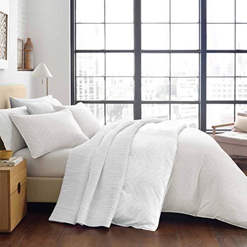 City Scene Demi Comforter Set, Queen, Beige -