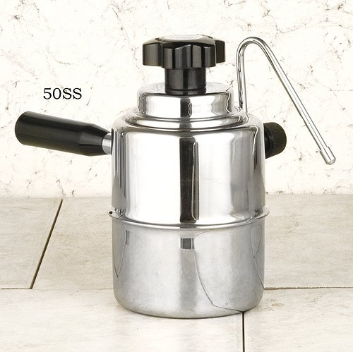 European Gift 50SS Cappuccino Steamer, Stainless Steel