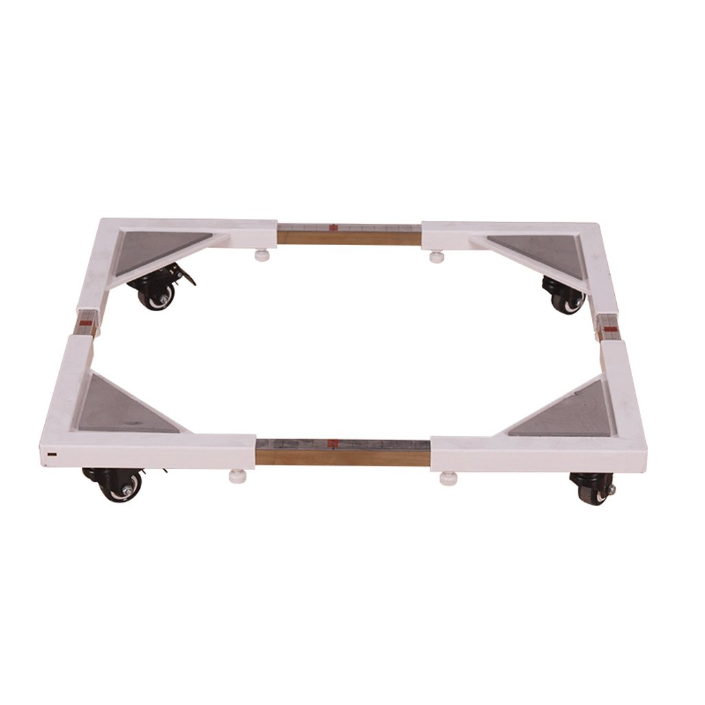 Washing Machine Base Stainless Steel Heightening It Can Move Bracket Fridge Stand -Casters (Color : White)