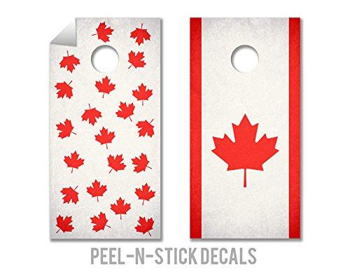 2 Piece O Canada, Eh? Cornhole Board Decal Set (Cornhole Bags Canada compare prices)