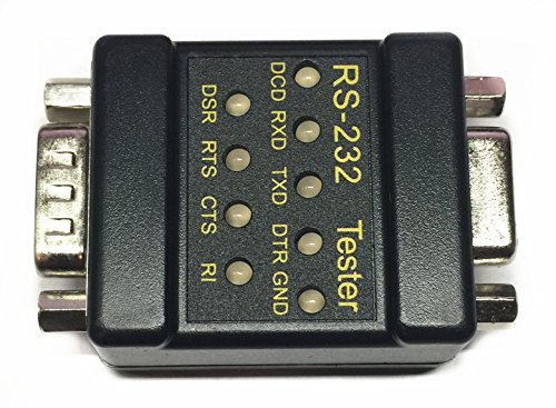 EZSync RS232 Mini Tester with LED Indicators, DB9 Male to DB9 Female, EZSync911 (Tester Rs 232)