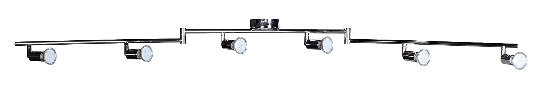 Wohnling 6er LED Strahler Deckenleuchte Spotsystem Schienensystem Gelenksystem Lampe Spot EEK A Amazonde Beleuchtung
