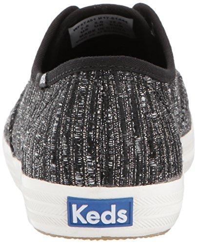 Zapatillas Mujer Keds Lurex Stripe Fashion Sneaker Black