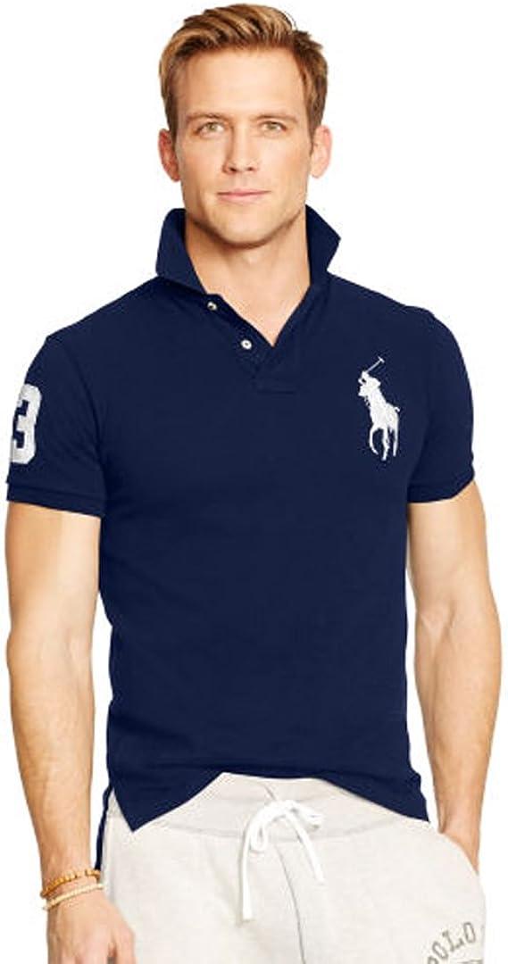 Ralph Lauren Polo para Hombre Big Pony Slim fit (M, Azul Marino ...