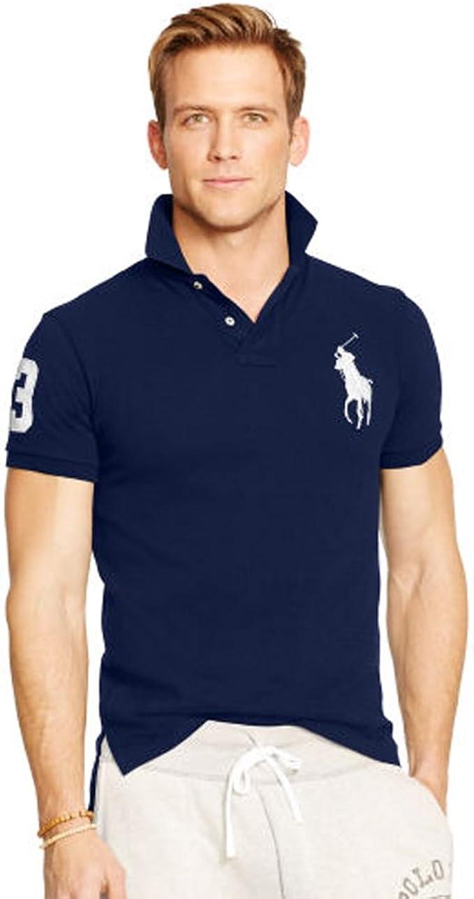 Ralph Lauren Polo para Hombre Big Pony Slim fit (M, Azul Marino): Amazon.es: Ropa y accesorios