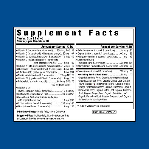 MegaFood - Men Over 40 One Daily, Multivitamin Support for Healthy Energy Levels, Prostate Function, Mood, and Bones with Zinc and B Vitamins, Vegetarian, Gluten-Free, Non-GMO, 90 Tablets (FFP) by MegaFood (Image #4)