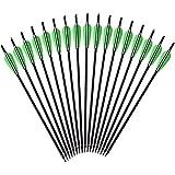 12 x Armbrustpfeile 16 Zoll 20 Zoll Armbrustbolzen Bolzen für Armbrust grün