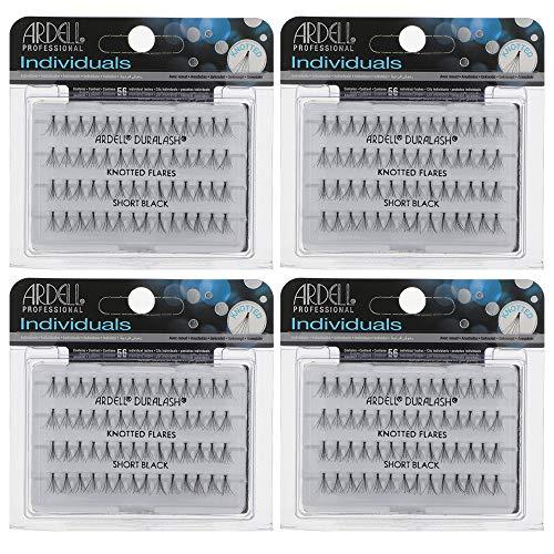 Ardell False Eyelashes Short Black 4 Pack Ardell Individual Eyelashes Flare