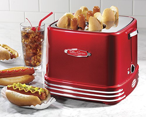 Nostalgia-RHDT800RETRORED-Retro-Series-4-Slot-Pop-Up-Hot-Dog-Toaster